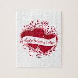 ¡El día de San Valentín feliz! Corazones rojos Puzzles