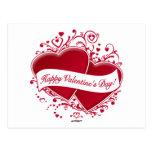 ¡El día de San Valentín feliz! Corazones rojos Postal