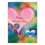El día de San Valentín feliz - corazones - Felicitacion