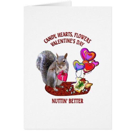 El día de San Valentín feliz de la ardilla Felicitaciones