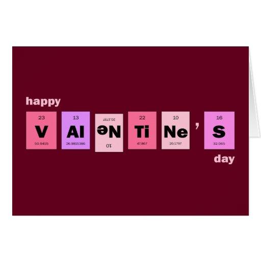 El día de San Valentín feliz de la ciencia del emp Tarjeton