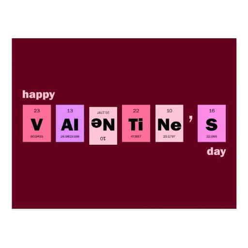 El día de San Valentín feliz de la ciencia del emp Tarjetas Postales