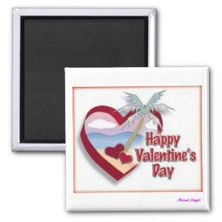 El día de San Valentín feliz de la Florida Imanes Para Frigoríficos