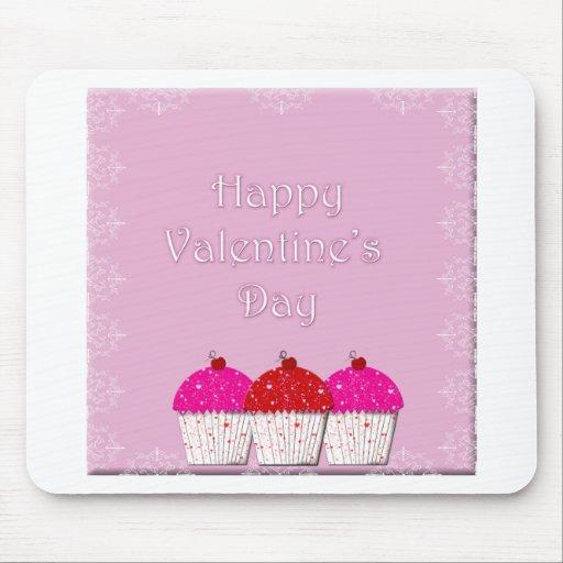 El día de San Valentín feliz de la magdalena Alfombrilla De Raton