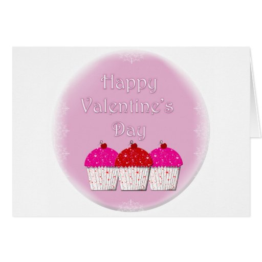 El día de San Valentín feliz de la magdalena Tarjeta De Felicitación