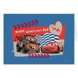 El día de San Valentín feliz de los coches Tarjetón