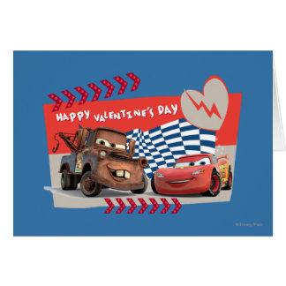 El día de San Valentín feliz de los coches Tarjeta De Felicitación
