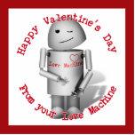 El día de San Valentín feliz de su máquina del amo Escultura Fotográfica