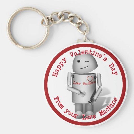 El día de San Valentín feliz de su máquina del amo Llaveros Personalizados