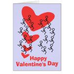 El día de San Valentín feliz del corredor Felicitación