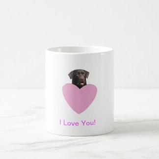 El día de San Valentín feliz del labrador retrieve Tazas