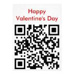 el día de San Valentín feliz del qr