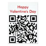 el día de San Valentín feliz del qr Invitación 12,7 X 17,8 Cm
