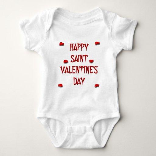 El día de San Valentín feliz del santo (cajas del Tshirt