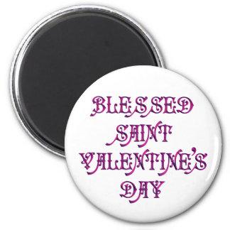 El día de San Valentín feliz del santo Imán De Frigorífico