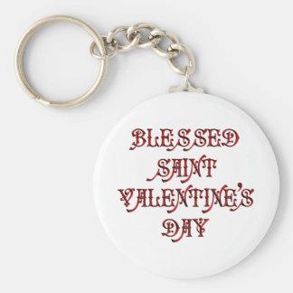 El día de San Valentín feliz del santo Llavero Redondo Tipo Pin