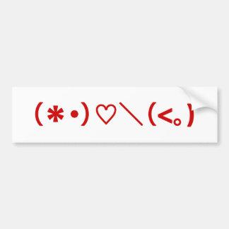El día de San Valentín feliz/Emoticons japoneses Pegatina Para Auto