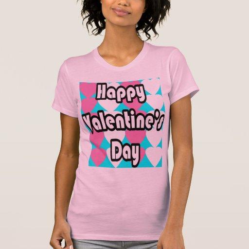 El día de San Valentín feliz en camiseta de la