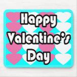 El día de San Valentín feliz en la turquesa Mousep Tapetes De Raton