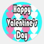 El día de San Valentín feliz en pegatina de la