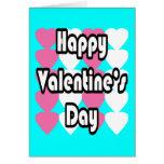 El día de San Valentín feliz en tarjeta de la turq