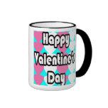 El día de San Valentín feliz en taza de la turques