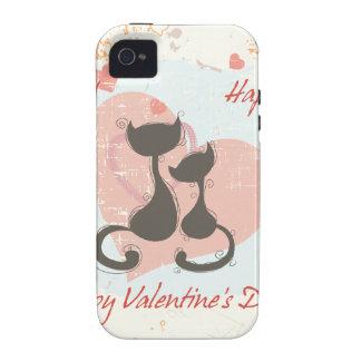 El día de San Valentín feliz Case-Mate iPhone 4 Carcasa