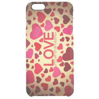 El día de San Valentín feliz Funda Clearly™ Deflector Para iPhone 6 Plus De Unc