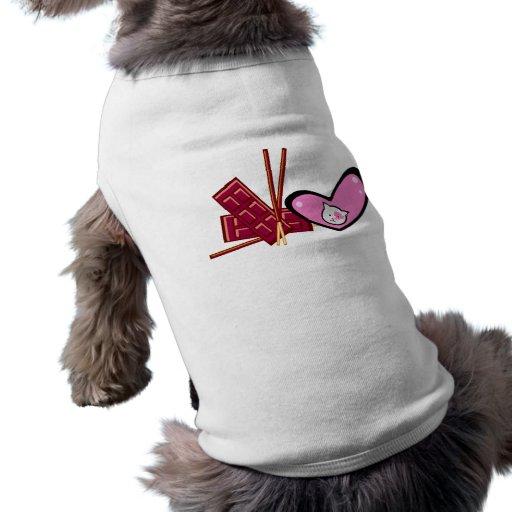El día de San Valentín feliz (gato) Camisa De Perrito