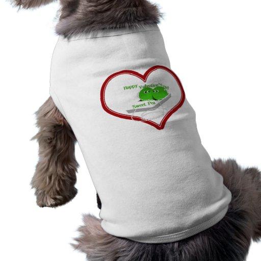 El día de San Valentín feliz, guisante de olor Prenda Mascota