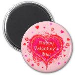 El día de San Valentín feliz Imanes Para Frigoríficos