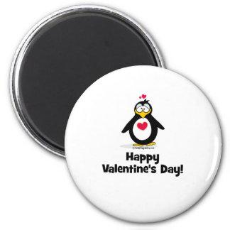 El día de San Valentín feliz Imán Redondo 5 Cm