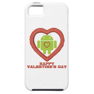 El día de San Valentín feliz (insecto Droid dos Funda Para iPhone 5 Tough