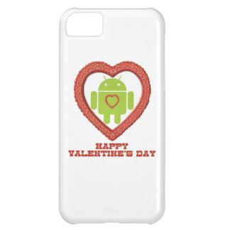 El día de San Valentín feliz (insecto Droid dos Funda Para iPhone 5C