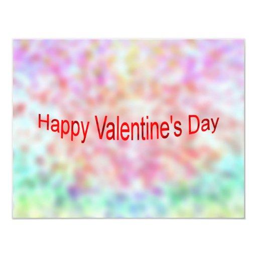 El día de San Valentín feliz Invitación 10,8 X 13,9 Cm