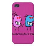 El día de San Valentín feliz iPhone 4/4S Carcasa