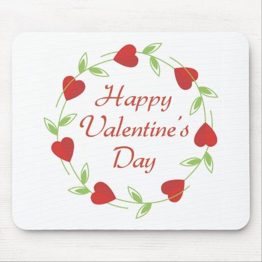 El día de San Valentín feliz Mousepad