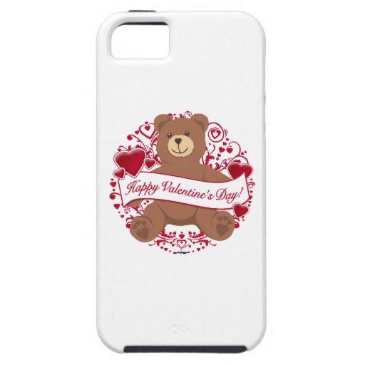 ¡El día de San Valentín feliz! Oso de peluche iPhone 5 Cárcasas