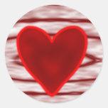 El día de San Valentín feliz Pegatina Redonda
