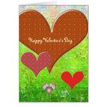 El día de San Valentín feliz - plantilla de la Tarjeta