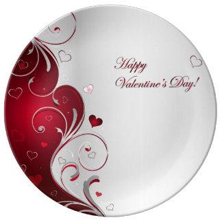El día de San Valentín feliz Platos De Cerámica