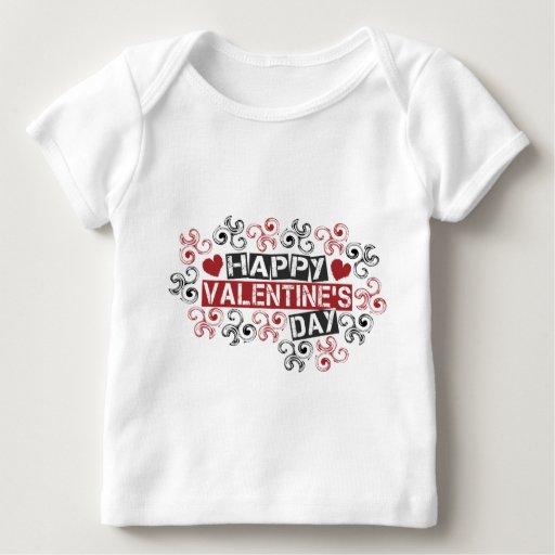 el día de San Valentín feliz Playera De Bebé