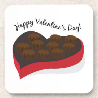 ¡El día de San Valentín feliz! Posavasos De Bebidas