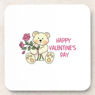 El día de San Valentín feliz Posavasos De Bebida