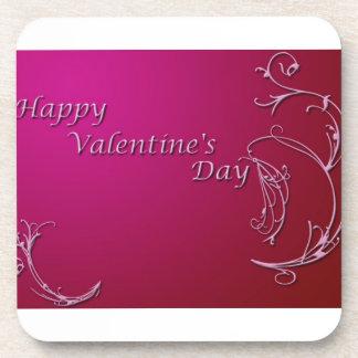 El día de San Valentín feliz Posavasos De Bebidas