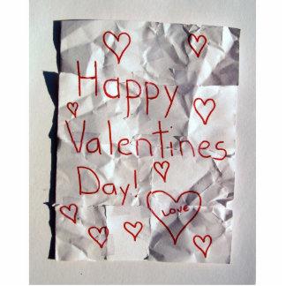 El día de San Valentín feliz, rasgado y grabado ju Escultura Fotografica