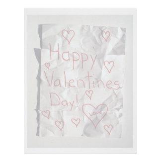 El día de San Valentín feliz, rasgado y grabado ju Membretes Personalizados