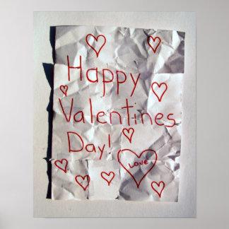 El día de San Valentín feliz, rasgado y grabado ju Impresiones