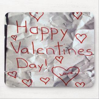 El día de San Valentín feliz, rasgado y grabado ju Tapete De Raton