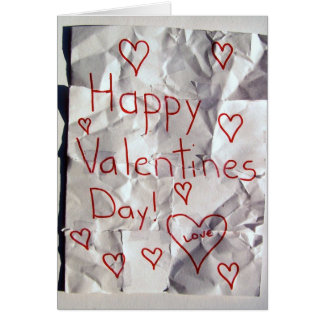 El día de San Valentín feliz, rasgado y grabado ju Tarjeta